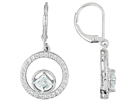 White Cubic Zirconia Platineve Earrings 2.04ctw