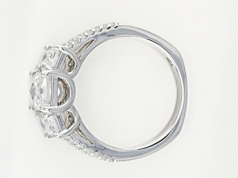 White Cubic Zirconia Platineve Ring 4.95ctw