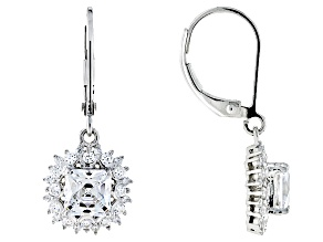 White Cubic Zirconia Platineve Earrings 3.57ctw
