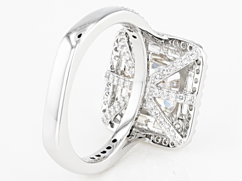 White Cubic Zirconia Platineve Ring 5.17ctw