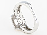 White Cubic Zirconia Platineve Ring 5.37ctw