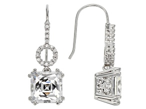 White Cubic Zirconia Platineve Earrings 8.91ctw