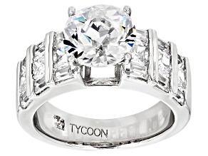 White Cubic Zirconia Platineve Ring 7.37ctw
