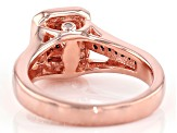 .50ctw Round Champagne & White Diamond, Engild™, 14k Rose Gold Over Sterling Silver Ring