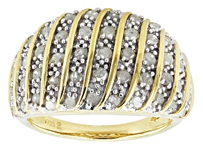 14k Yellow Gold Over Silver Diamond Ring 1.00ctw