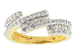 Diamond 14k Yellow Gold Over Silver Ring .50ctw