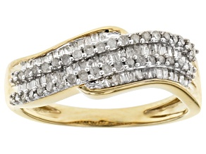 Diamond 14k Yellow Gold Over Sterling Silver Ring .56ctw
