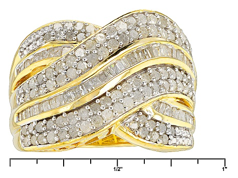 14k Yellow Gold Over Silver Ring 1.95ctw