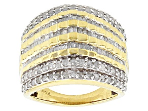 14k Yellow Gold Over Sterling Silver Diamond Ring 2.00ctw
