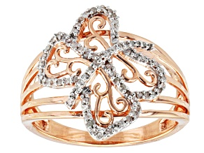 14k Rose Gold Over Sterling Silver Diamond Ring .20ctw