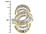 14k Yellow Gold Over Sterling Silver Diamond Ring 1.70ctw