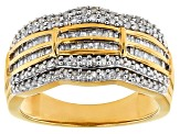 Diamond 14k Yellow Gold Over Sterling Silver Ring .83ctw