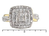 14k Yellow Gold Over Sterling Silver Diamond Ring 1.00ctw