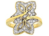 14k Yellow Gold Over Sterling Silver Diamond Ring .50ctw