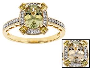 Green Turkish Diaspore 14k Yellow Gold Ring 1.20ctw