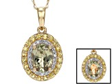 Green Turkish Diaspore 14k Yellow Gold Pendant With Chain 1.48ctw