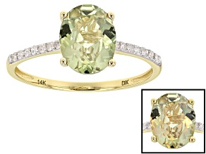 Green Turkish Diaspore 14k Yellow Gold Ring 1.81ctw