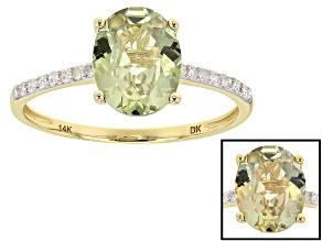 Green Turkish Diaspore 14k Yellow Gold Ring 1.81ctw