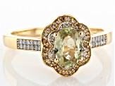 Green Turkish Diaspore 14k Yellow Gold Ring .92ctw