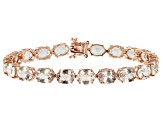 Color shift diaspore 14k rose gold bracelet 24.57ctw
