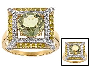 Green Turkish Diaspore 14k Yellow Gold Ring 3.31ctw