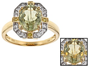 Green Turkish Diaspore 14k Yellow Gold Ring 2.47ctw