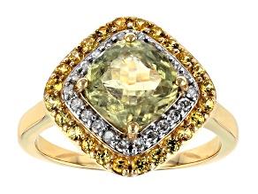 Green Diaspore 14k Yellow Gold Ring 2.65ctw