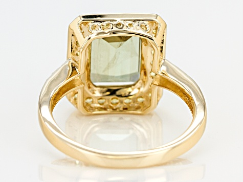 Green Diaspore 14k Yellow Gold Ring 3.49ctw