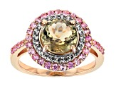 Green Diaspore 14k Rose Gold Ring 2.28ctw