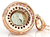 Green Diaspore 14k Rose Gold Pendant With Chain 2.40ctw