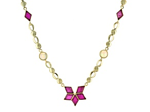 Mahaleo Ruby 10k Yellow Gold Necklace 4.90ctw