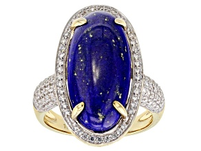 Blue Lapis Lazuli 10k Yellow Gold Ring .73ctw