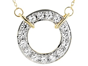 White Zircon 14k Yellow Gold Necklace .75ctw