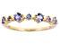 Blue Tanzanite 14k Gold Band Ring .45ctw