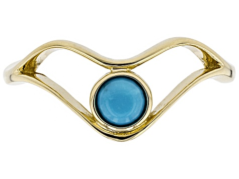 Blue Sleeping Beauty Turquoise 10k Gold Ring