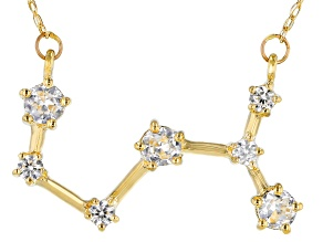 White Zircon 10k Yellow Gold