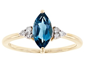 London Blue Topaz 14k Yellow Gold Ring 1.10ctw