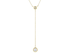 White Zircon 10k Yellow Gold Necklace .73ctw