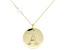 White Zircon Bead 10k Yellow Gold Initial