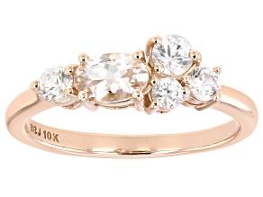 Pink Morganite 10k Rose Gold Ring .85ctw