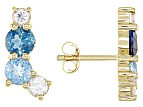 London Blue Topaz 14k Yellow Gold Earrings 2.43ctw