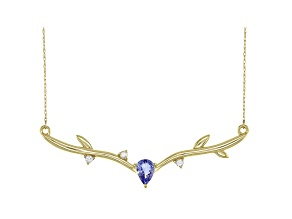 Blue Tanzanite 10k Yellow Gold Necklace 0.84ctw