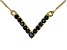 Blue Sapphire 10k Yellow Gold Necklace 0.51ctw