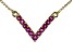 Red Ruby 10k Yellow Gold Necklace .52ctw