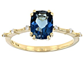 London Blue Topaz 10k Yellow Gold Ring 1.60ctw