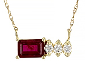 Red Mahaleo® Ruby 10k Yellow Gold Necklace .73ctw