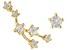 "White Zircon 10k Yellow Gold ""Taurus"" Stud Earrings 0.27ctw"