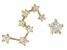 "White Zircon 10k Yellow Gold ""Leo"" Stud Earrings 0.31ctw"
