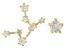 "White Zircon 10k Yellow Gold ""Virgo"" Stud Earrings 0.32ctw"