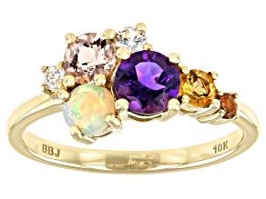 Purple Amethyst 10k Yellow Gold Ring 0.95ctw